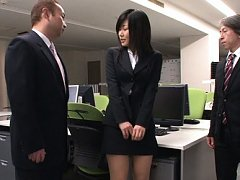 Yume Kyono Asian in short skirt has boobs touched...