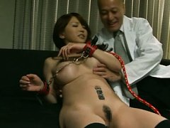 Yuki Tohma Asian busty with hands in belts gets fi...