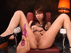 Riri Asian has cunt full of juices and ass hole fu...