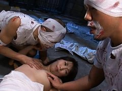 Nozomi Mitani in a bizarre anal video at a crazy h...