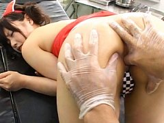 Akane Ohzora seems to enjoy getting fingered in he...