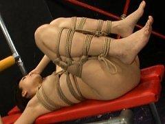 Mari Kamiya bound and forced to suck his hard cock