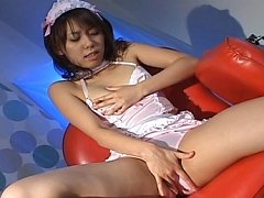 Maho Sawai Sexy Asian doll in lingerie fingers her...