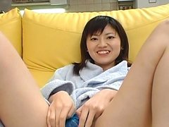 Rinako Hirasawa uses a dildo roughly in her hot we...