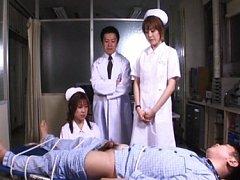Riho Asakura dresses as nurse and straps this pati...