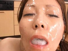 Chihiro Akino Asian has all face and mouth covered...