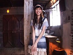 Aino Kishi Asian in cute dress has hot behind in t...