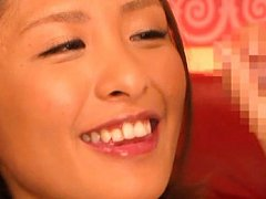 Yuuki Natsume Asian smiles because she loves to su...