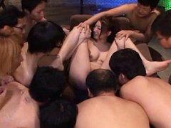 Hina Akiyoshi Asian has boobs fondled and cunt exp...