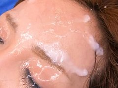 Misuzu Tachibana has forehead full of sperm after...