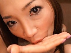 Asami Ogawa Asian licks and sucks true cock and wh...