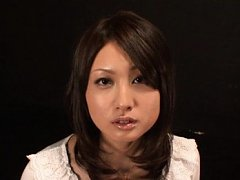 Saki Yano Asian gets sperm on face while she still...
