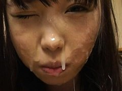 Aya Shiraishi Asian in uniform gets a lot of sperm...