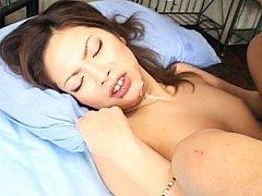 Yukari Mayama Asian has sperm pouring from cunt an...