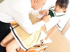 Asuka Ohzora Asian with black socks is rubbed and...