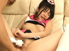 Tsubomi babe gets pussy licked and dildo drilled b...