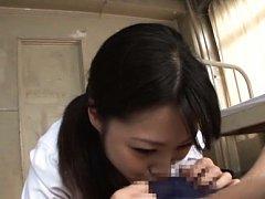 Miku Sunohara Asian licks patient chest and sucks...