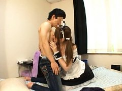 Momoka Nishina Asian with big tits and cat ears li...