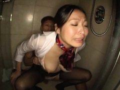 Miwako Yamamoto Asian busty has twat doggy style p...