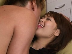 Maika Asian shows dark cunt and asshole while givi...