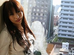 Asuka in white silk panties shows her camel toe