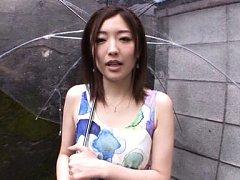 Ai Haneda Asian in sexy dress gives fine blowjob u...