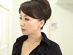 Japanese AV Model rubs dick and chick with specs s...
