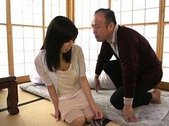 Chihiro Akino Asian has big tits fondled and love...