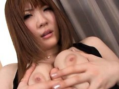 Momoka Nishina Asian gets dildo to rub it between...
