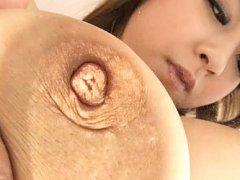 Hitomi Tanaka Asian has nipple pushed inside her i...