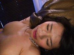 Hana Haruna Asian with very big jugs and stockings...