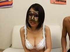 Japanese AV Model with mask has big cans touched o...