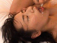Hana Haruna Asian with very appetizing boobs gets...