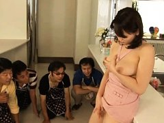 Ai Kanazaki Asian shows big boobs and pussy to cur...