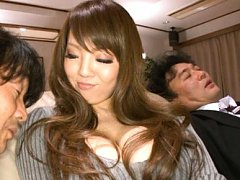Hitomi Tanaka Asian with big chest and short skirt...