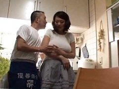 Nachi Kurosawa Asian has huge bosom squeezed over...