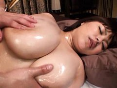 Marie Momoka Asian has immense melons fondled with...