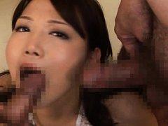 Ai Kanazaki Asian with big bust gets two hard shlo...