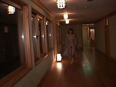 Nana Natsume gets naked in the hallway of a public...