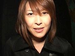 Nana Natsume flashing her tits to the camera befor...