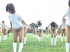 A whole field full of nude japanese asses for your...