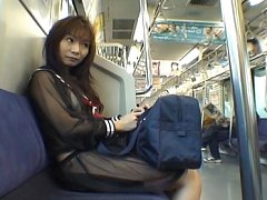 Mikan Hot Asian teen is on the train in her hot se...