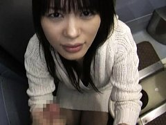 Yuka Kurihara flashes a nipple to him then sucks h...