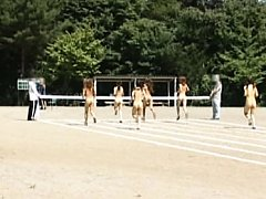 Amateur naked track and field competition with sex...