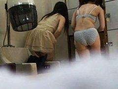 Japanese AV Model and nymphet washes their bodies...