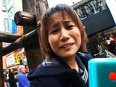Arisa Himeno Asian sucks boner while she presents...