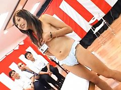 Japanese AV Model gets clothes off and shows jugs...