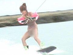 Japanese AV Model is watched practicing water spor...