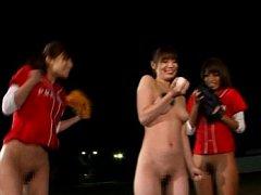 Japanese AV Model playing baseball with girls all...
