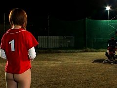 Japanese AV Model and girls are playing baseball i...